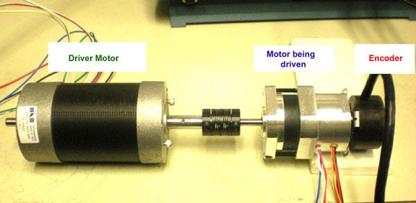 Back driven motor set up