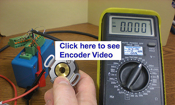 Find Index Pulse on Incremental Encoder with Digital Multimeter