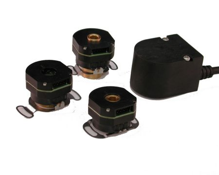 Four examples of incremental encoders manufactured by Quantum Devices